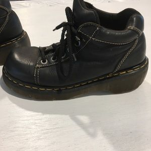 Dr Doc Martens 8542 Leather Ankle Boots 5 Eye UK 7